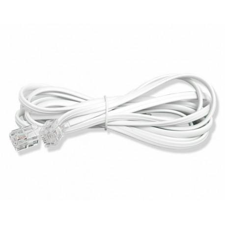 Przyłącze telefoniczne skręcane wtyk - wtyk, 4m, skręcane, białe. - TELE-9666 / LX9113PC4MB