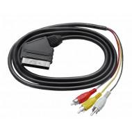 Kabel Euro - 3 RCA 1.2m
