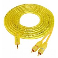 Kabel Jack 3.5 - 2 wtyki RCA Red HQ 3m